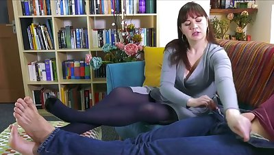 Horny MILF rides young dick