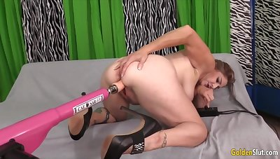 Mature Women Object Railed by Fucking Machines Compilation 4