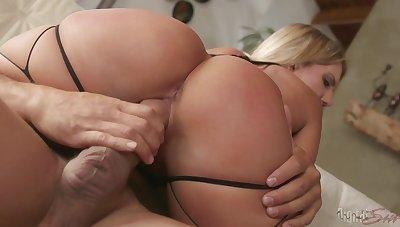 Erotic sex video with cum swallowing blonde MILF Candice Dare