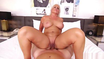 MomPov Kathy - Busty Blonde MILF Nurses Cock E384