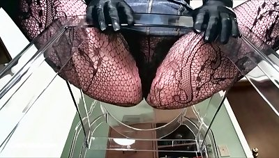 POINT-OF-VIEW of median woman in fishnets