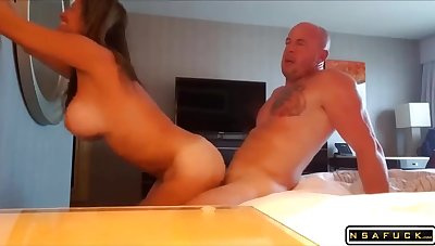 Kinky Full-Bosomed Mature With Big Bristols Humped And Cumshoted