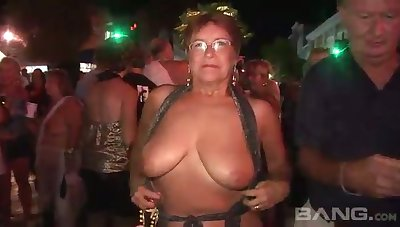 These mature women love to flash in return and they've got chunky natural tits