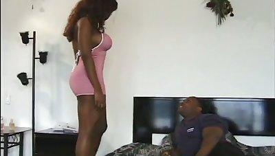 An amazing black lady cannot deny her urges and she wants to suck her BF's dick