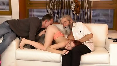 Two old granny s with an increment of man fucks big tits milf Unexpected