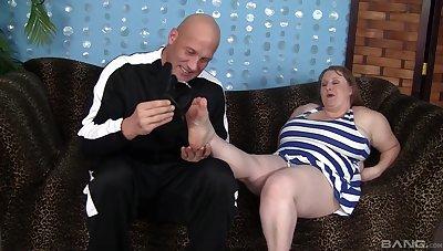 BBW in matured scenes of rough pussy sex
