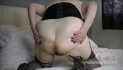 Sally plays there tits with an increment of pussy