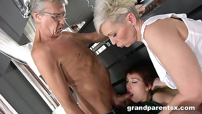 Older toff fucks his slutty tie the knot and a younger layman girl