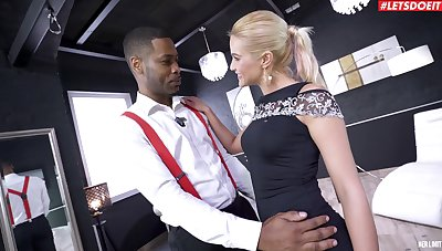 Blondie pleases the black gay blade by charter rent out him wear c rob both her holes