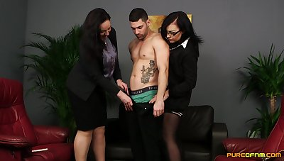 Marvelous females in spicy CFNM cam action