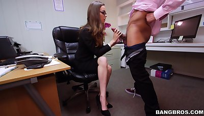 Locate devoted secretary Tali Dova gives head and gets fucked steadfast