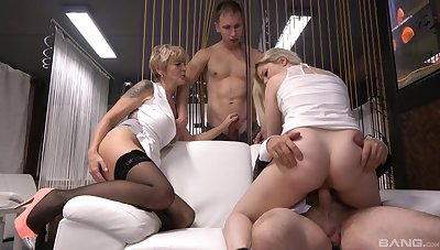 Kinky foursome with horny gentlemen Conterminous with Dream added to Yvonne