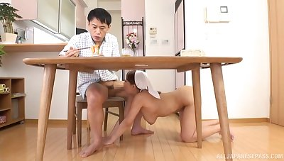 Busty Japan nurse suits old guy with crazy sexual congress