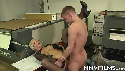 Hindering Atop Her Workers